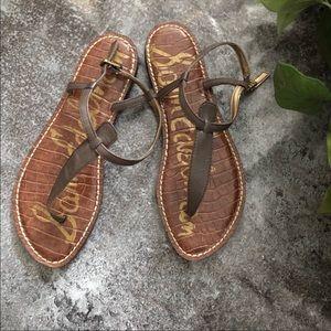 Sam Edelman taupe color sandals size 7